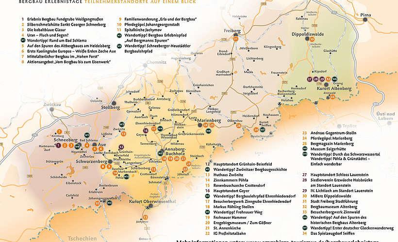 Bergbau Erzgebirge Karte.Bergbau Erlebnistage